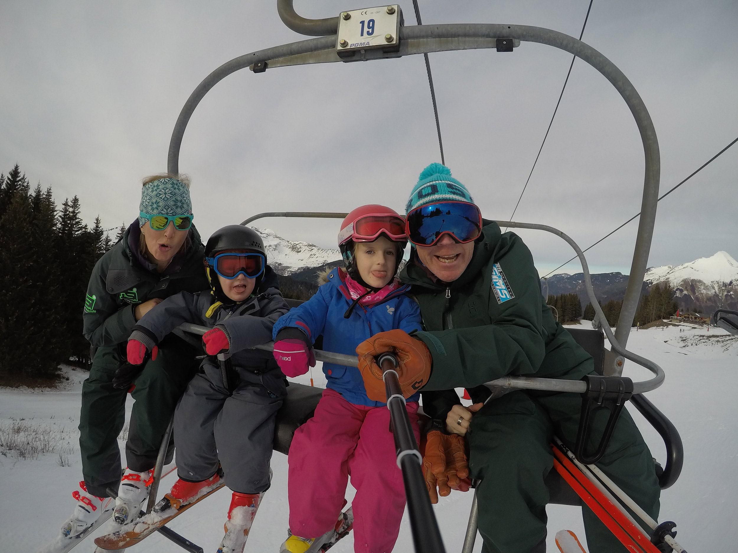 Chairlift Selfie Ski Lessons Morzine